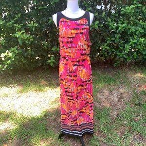 Ruby Rd long/maxi printed sleeveless dress - Small